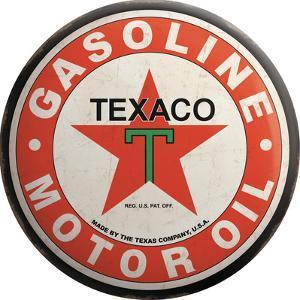 Texaco Tin Button Sign