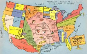 Texan's Map of US