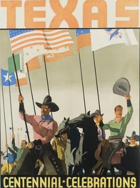 Texas Centennial Celebrations Poster