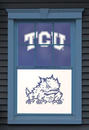 Texas Christian University Horned Frog Dual WOWindow Poster
