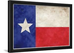 Texas Flag Distressed Art Print Poster