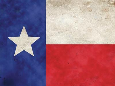 Texas Flag Distressed Art Print Poster