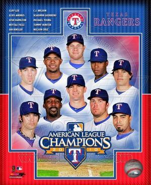 Texas Rangers 2010 American League Champions Composite