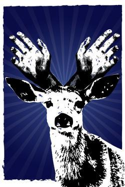 Texas Rangers Antlers Sports Poster Print