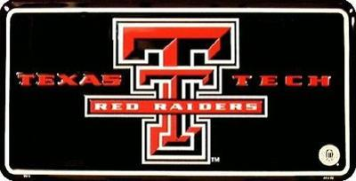 Texas Tech License Plate