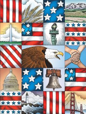 Texture, Patriotic Patchwork