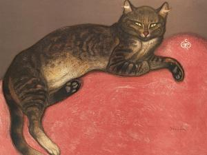 Cat on a Cusion by Th?hile Alexandre Steinlen