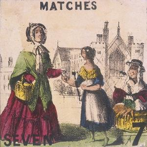 Matches, Cries of London, C1840 by TH Jones