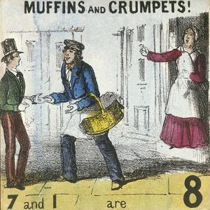 Muffins and Crumpets!, Cries of London, C1840 by TH Jones