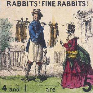 Rabbits! Fine Rabbits!, Cries of London, C1840 by TH Jones