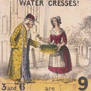 Water Cresses!, Cries of London, C1840 by TH Jones