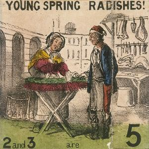 Young Spring Radishes!, Cries of London, C1840 by TH Jones