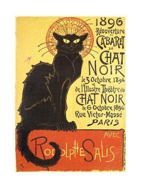 Cabaret Du Chat Noir-Black Cat Cabaret by Th?ophile Alexandre Steinlen