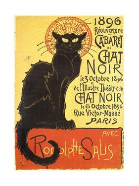 Cabaret Du Chat Noir-Black Cat Cabaret by Th?ophile Alexandre Steinlen