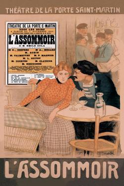 L'Assommoir, c.1900 by Th?ophile Alexandre Steinlen