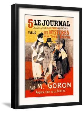 Le Journal: Les Mysteres de la Tour Pointue, c.1899 by Th?ophile Alexandre Steinlen