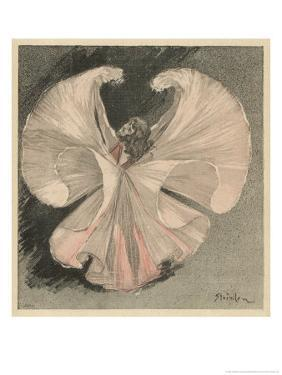 Loie Fuller (Mary Louise Fuller) American Dancer at the Folies Bergere Paris by Th?ophile Alexandre Steinlen