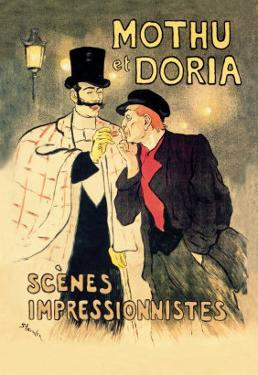 Mothu et Doria: Scenes Impressionnistes by Th?ophile Alexandre Steinlen