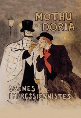 Mothu et Doria by Th?ophile Alexandre Steinlen