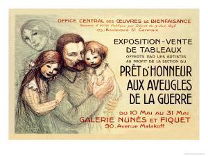 Pret d'Honneur aux Aveugles de la Guerre, c.1917 by Th?ophile Alexandre Steinlen