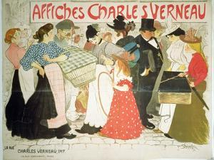 The Street, Poster For the Printer Charles Verneau, 1896 by Th?ophile Alexandre Steinlen