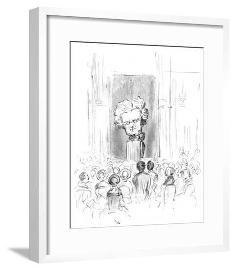 Thackeray Lecturing--Framed Giclee Print