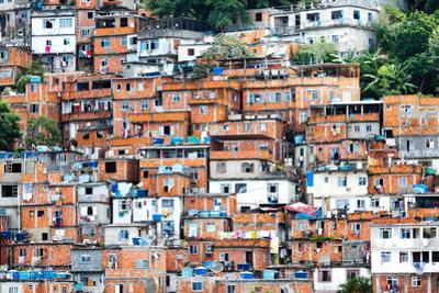 Favela, Brazilian Slum in Rio De Janeiro by thakala