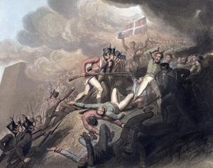 Capture of San Sebastian, Spain, 31st August 1813 (1819) by Thales Fielding