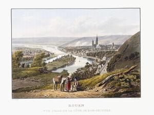 Rouen, Seen from Bon-Secours, 1823-1826 by Thales Fielding