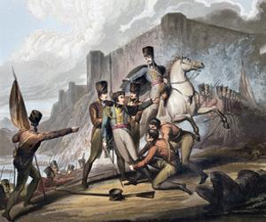 Second Battle of Porto, Portugal, 12th May 1809 (1819) by Thales Fielding
