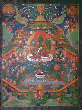 Thangka Depicting Green Tara