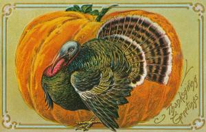 Thanksgiving Greetings, Turkey, Pumpkin