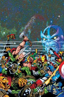 Thanos: The Final Threat No. 1: Thor, Captain America, Iron Man, Vision, Thanos