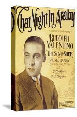 That Night in Araby, Rudolph Valentino