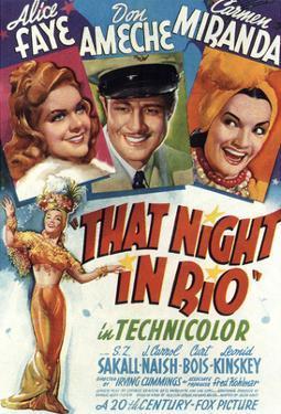 That Night In Rio, Alice Faye, Don Ameche, Carmen Miranda, 1941