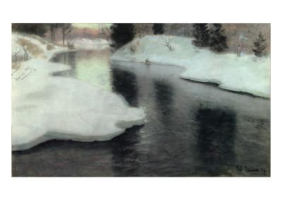 Thawing Ice on the Lysaker River, 1887