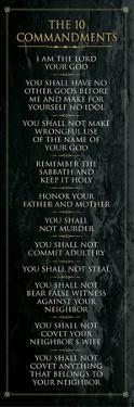 The 10 Commandments (black)