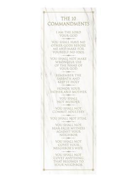 The 10 Commandments (white)