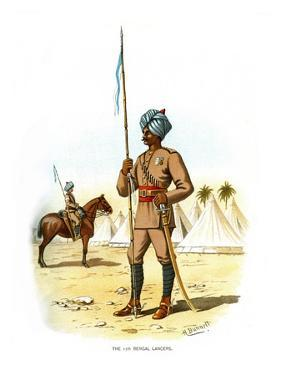 The 13th Bengal Lancers, C1890 by H Bunnett