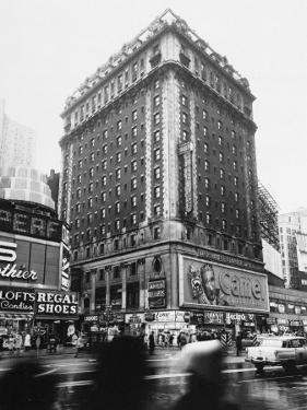 The 14-Story Hotel Claridge Towers Over the East Side of Broadway at 44th Street