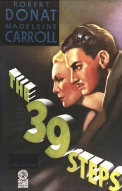 The 39 Steps, from Left: Madeleine Carroll, Robert Donat, 1935