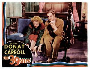 The 39 Steps, Madeleine Carroll, Robert Donat, 1935