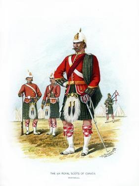 The 5th Royal Scots of Canada, Montreal, C1890 by H Bunnett
