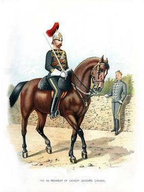 The 6th Regiment of Cavalry (Hussars, Canad), C1890 by H Bunnett
