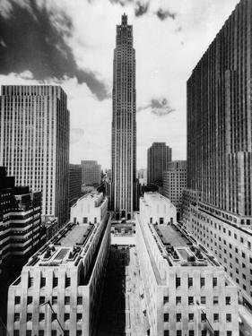 The 70-Story RCA Building Towers Over the City Complex of Rockefeller Center