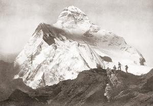 The Abruzzi Spur on the K2 Mountain. from the Year 1910 Illustrated