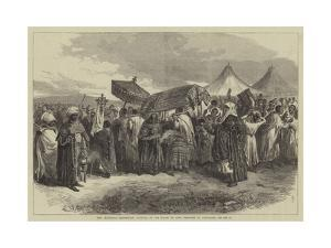 The Abyssinian Expedition, Funeral of the Widow of King Theodore at Aikhullet
