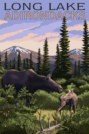 https://imgc.allpostersimages.com/img/posters/the-adirondacks-long-lake-new-york-moose-and-baby-calf_u-L-Q1GQMBI0.jpg?p=0