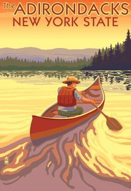 The Adirondacks, New York State - Canoe Scene