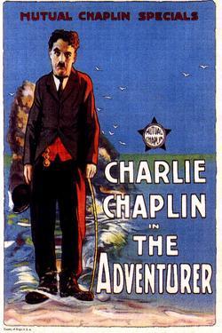 The Adventurer Movie Charlie Chaplin Edna Purviance Poster Print